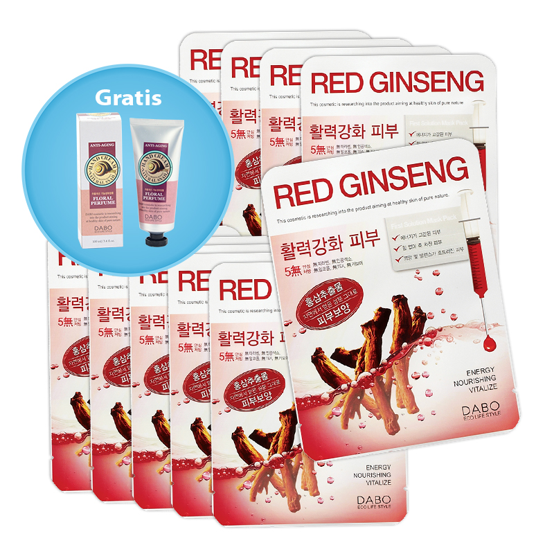 dabo red ginseng kosmetische gesichtsmaske 10er set 10 x 23 ml handcreme gratis dabo. Black Bedroom Furniture Sets. Home Design Ideas