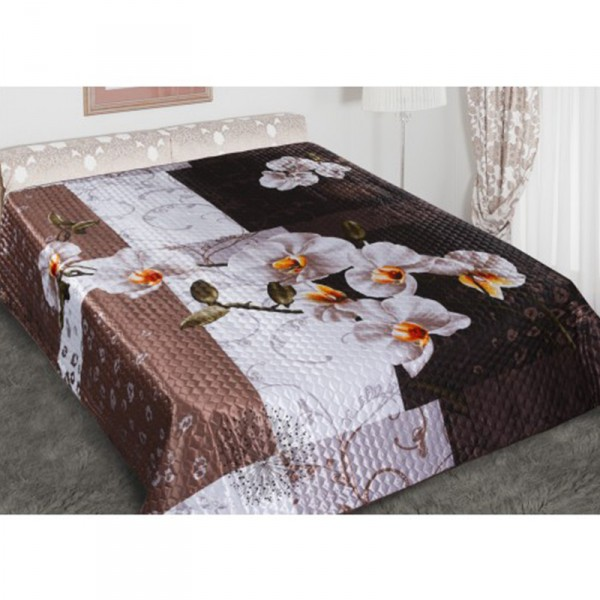 """Tagesdecke """"Orchidee"""" 3D, 100 % Polyester"""
